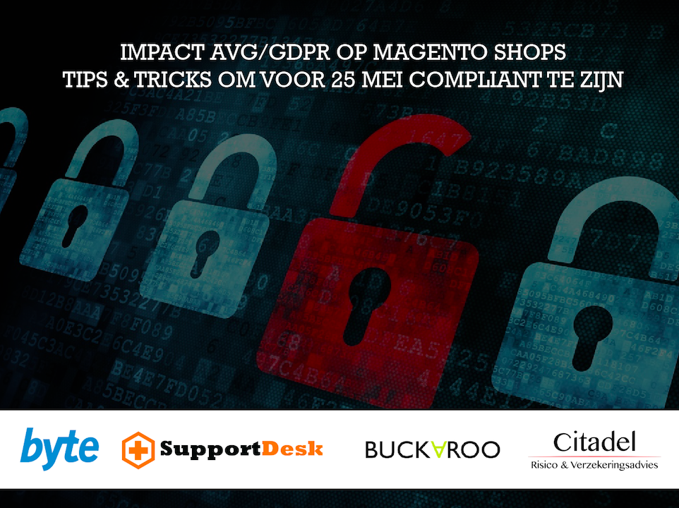 Impact AVG/GDPR op Magento shops