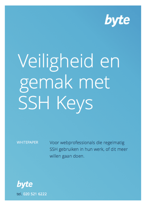 Download folder Veiligheid en gemak met SSH Keys | Byte