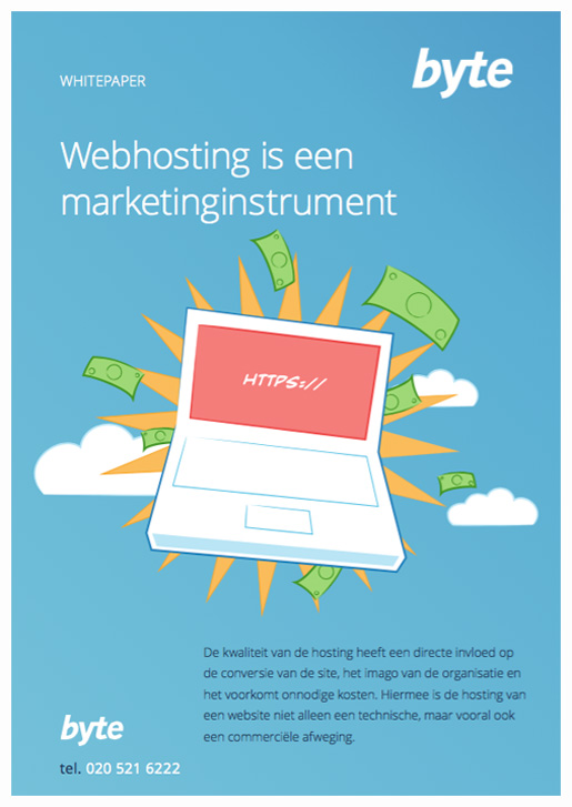 Cover whitepaper Webhosting is een marketinginstrument